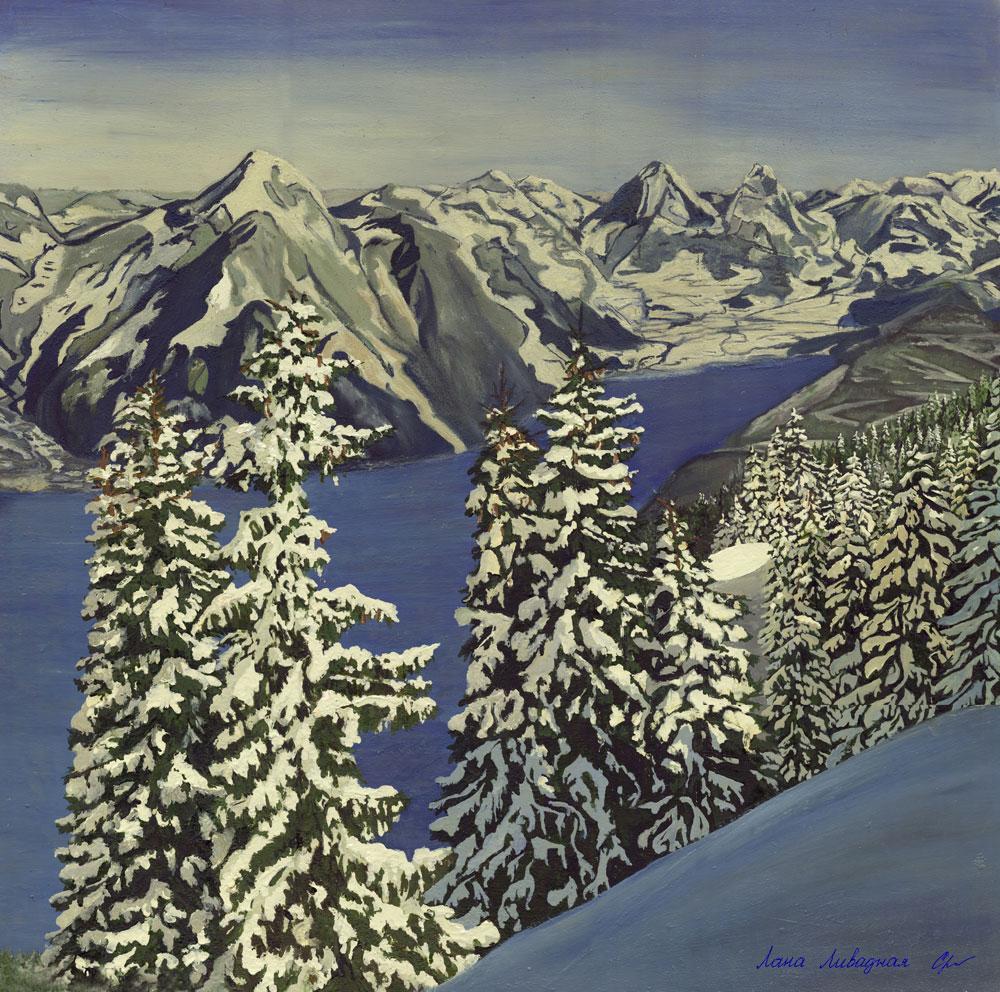 """Зима, Канада"", холст, масло."