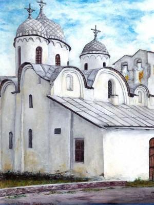 Церковь Иоанна Предтечи. Псков. Холст, масло.