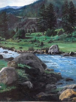 Киргизский пейзаж. Холст, масло.