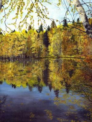 Осень на Большом Валдае, холст, масло.